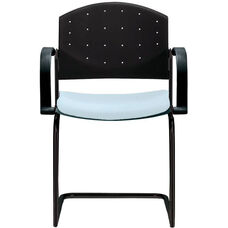 Eddy Sled Base Stack Side Chair with Upholstered Seat Pad