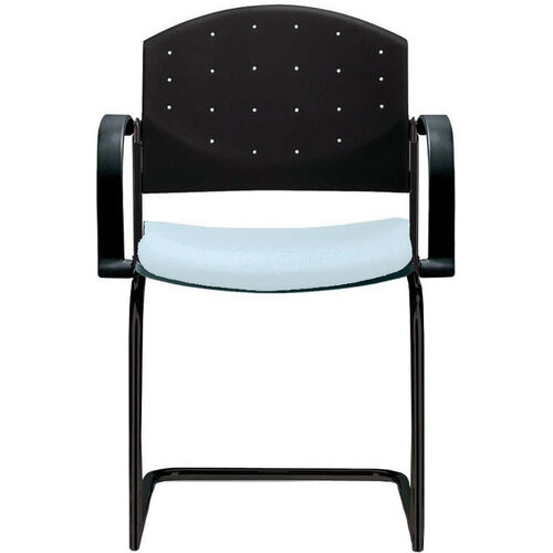 Our Eddy Sled Base Stack Side Chair with Upholstered Seat Pad is on sale now.