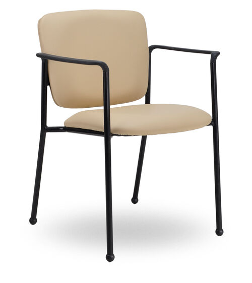 Monterey II 300 Series Stackable Multipurpose Guest Chair with Arms and Black Frame