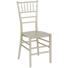 "HERCULES Series Champagne Resin Stacking Chiavari Chair with <span style=""color:#0000CD;"">Free </span> Cushion"
