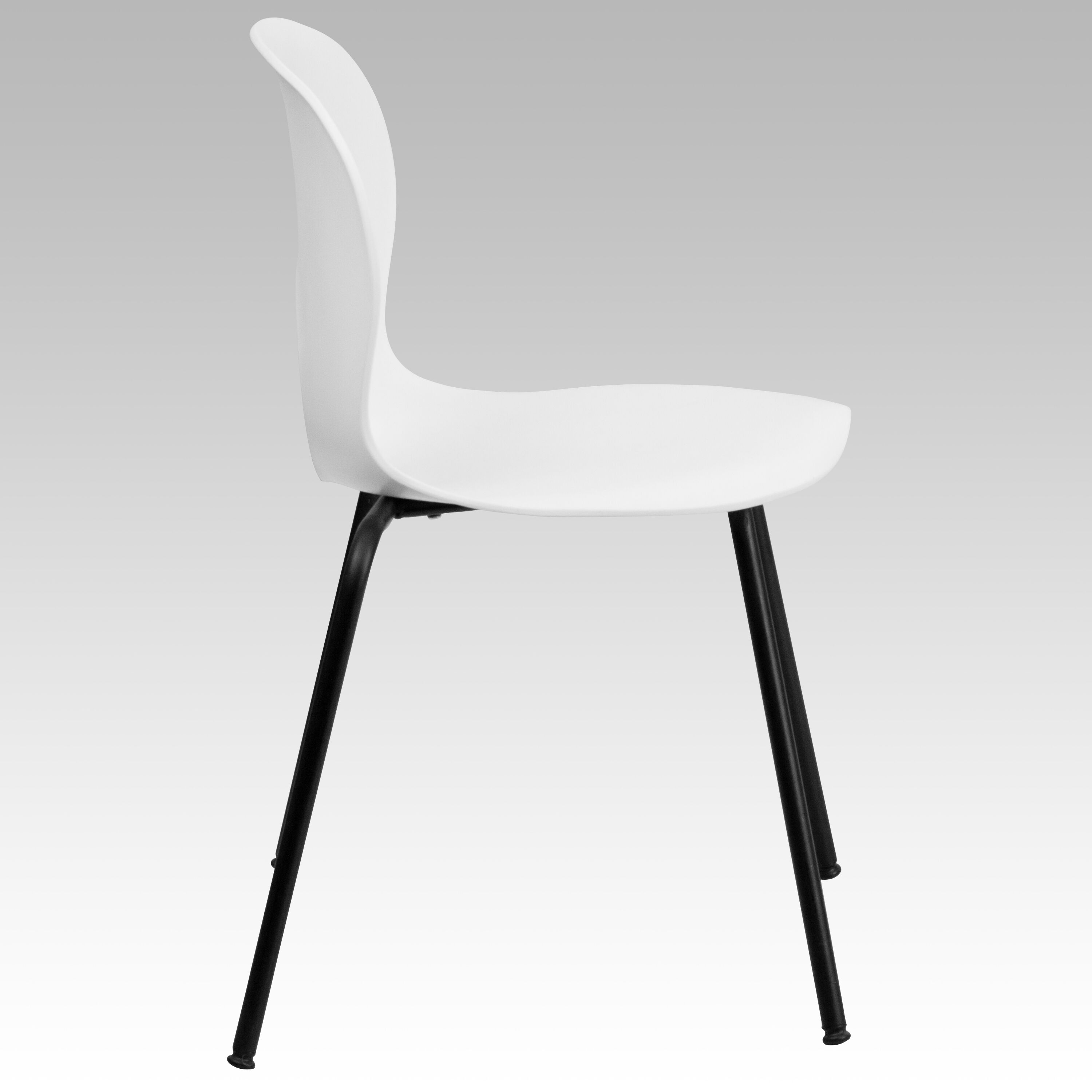Flash Furniture HERCULES Series 770 Lb. Capacity Designer White Plastic  Stack Chair With Black Frame RUT NC258 WHITE GG   StackChairs4Less.com