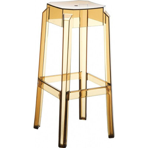 Fox Polycarbonate Stackable Backless Bar Stool