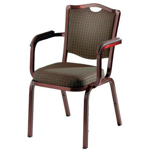 Our Burgess Como Premium Comfort Banquet Stacking Arm Chair with Crown Back is on sale now.