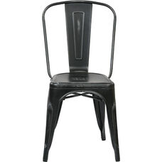 OSP Designs Bristow Stackable Armless Metal Chair - Set of 4 - Antique Black