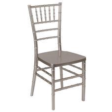 "HERCULES PREMIUM Series Pewter Resin Stacking Chiavari Chair with <span style=""color:#0000CD;"">Free </span> Cushion"