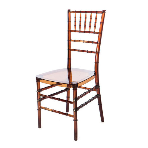 Our Mirage Amber Chiavari Polycarbonate Chair is on sale now.
