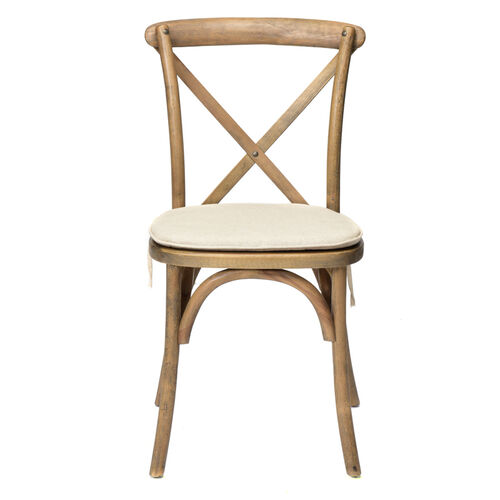 Our Rustic Sonoma Solid Wood Cross Back Stackable Dining Chair with Burlap X02 Cushion - Tinted Raw is on sale now.