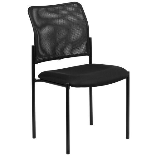 Our Comfort Black Mesh Stackable Steel Side Chair is on sale now.