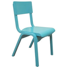 Carlo Junior Armless Stack Chair with Wooden Seat - 14