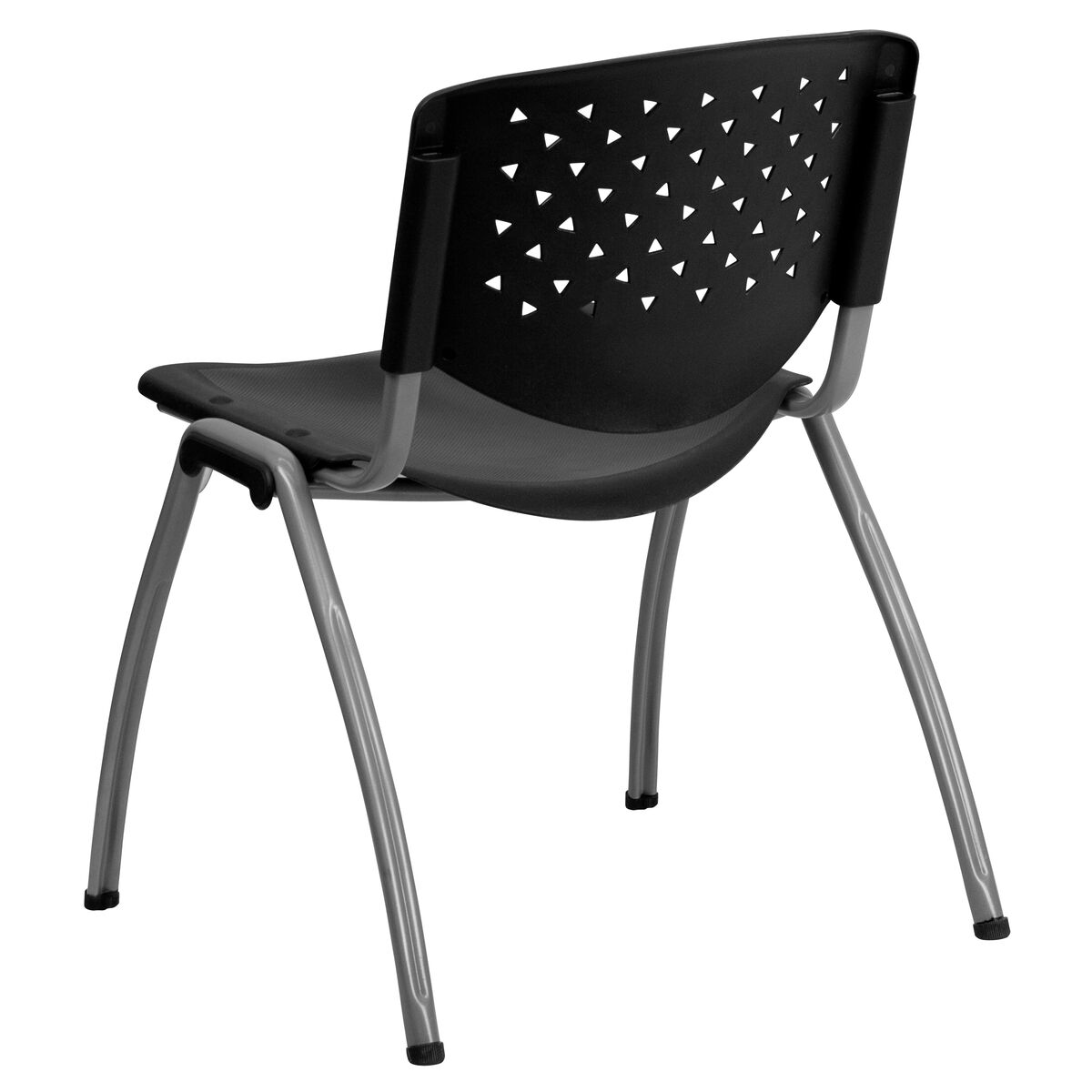 Our Hercules Series 880 Lb Capacity Black Plastic Stack Chair With Anium Frame Is On