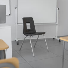 Advantage Black Student Stack School Chair - 18-inch