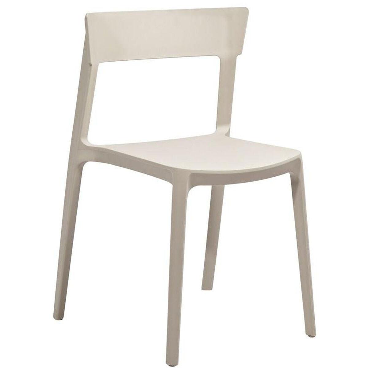 Design Lab Mn Rho Beige Modern Stackable Side Chair Set