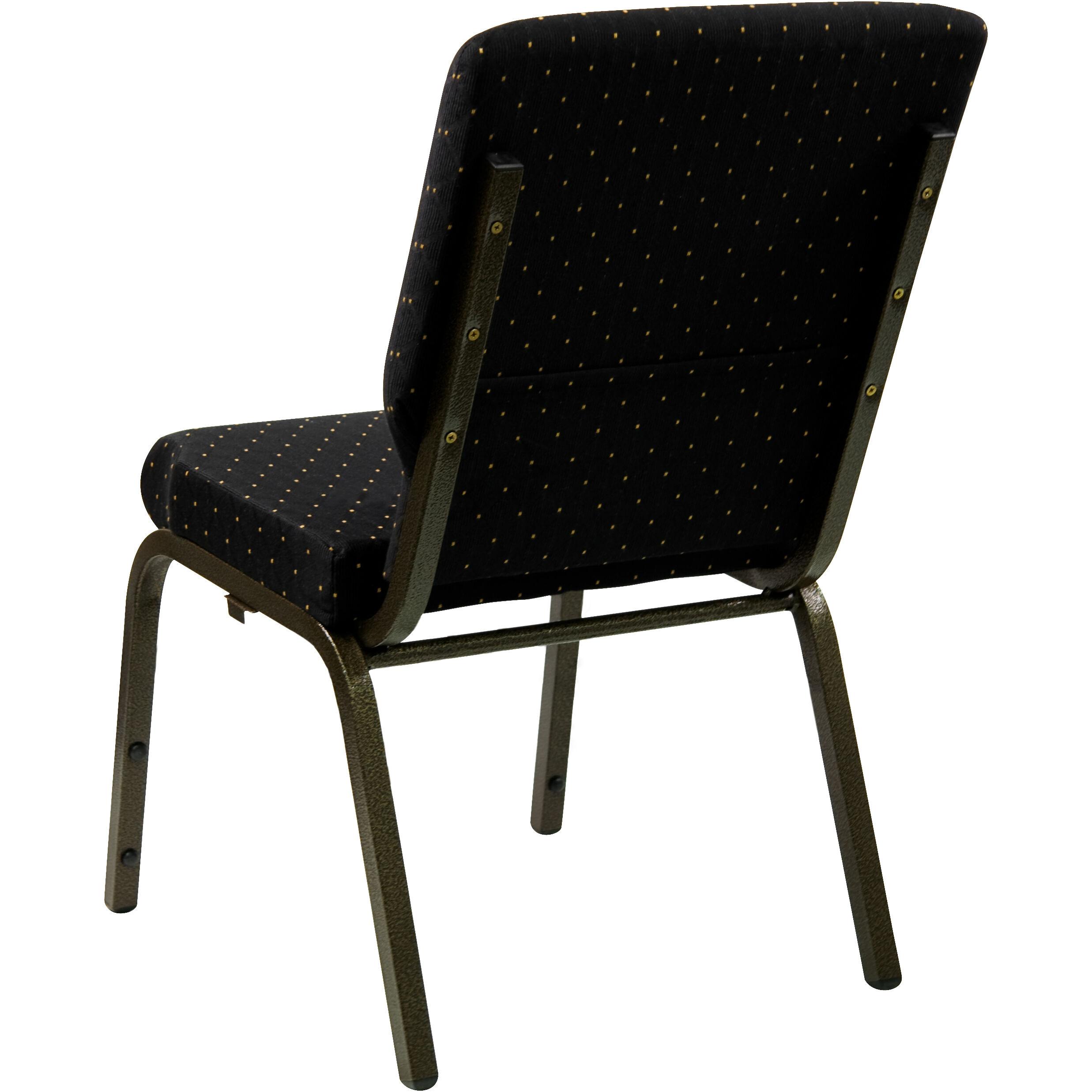 Wonderful Flash Furniture HERCULES Series 18.5u0027u0027W Stacking Church Chair In Black Dot  Patterned Fabric   Gold Vein Frame XU CH 60096 BK GG | StackChairs4Less.com