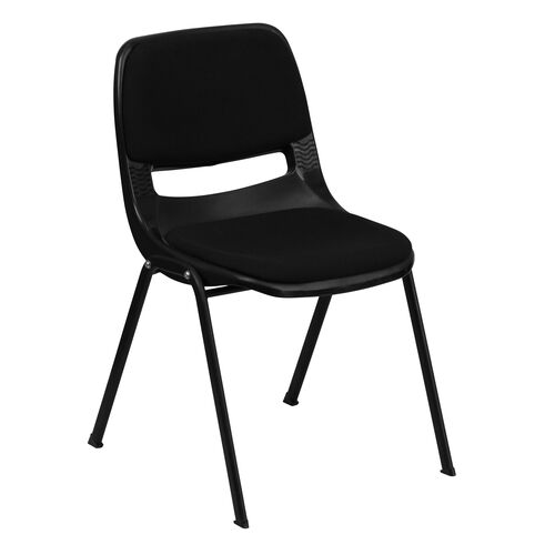 Our HERCULES Series 880 lb. Capacity Black Ergonomic Shell Stack Chair with Padded Seat and Back is on sale now.