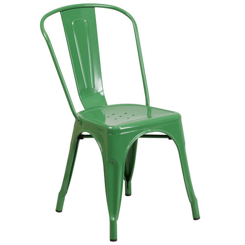 Our Green Metal Indoor-Outdoor Stackable Chair is on sale now.