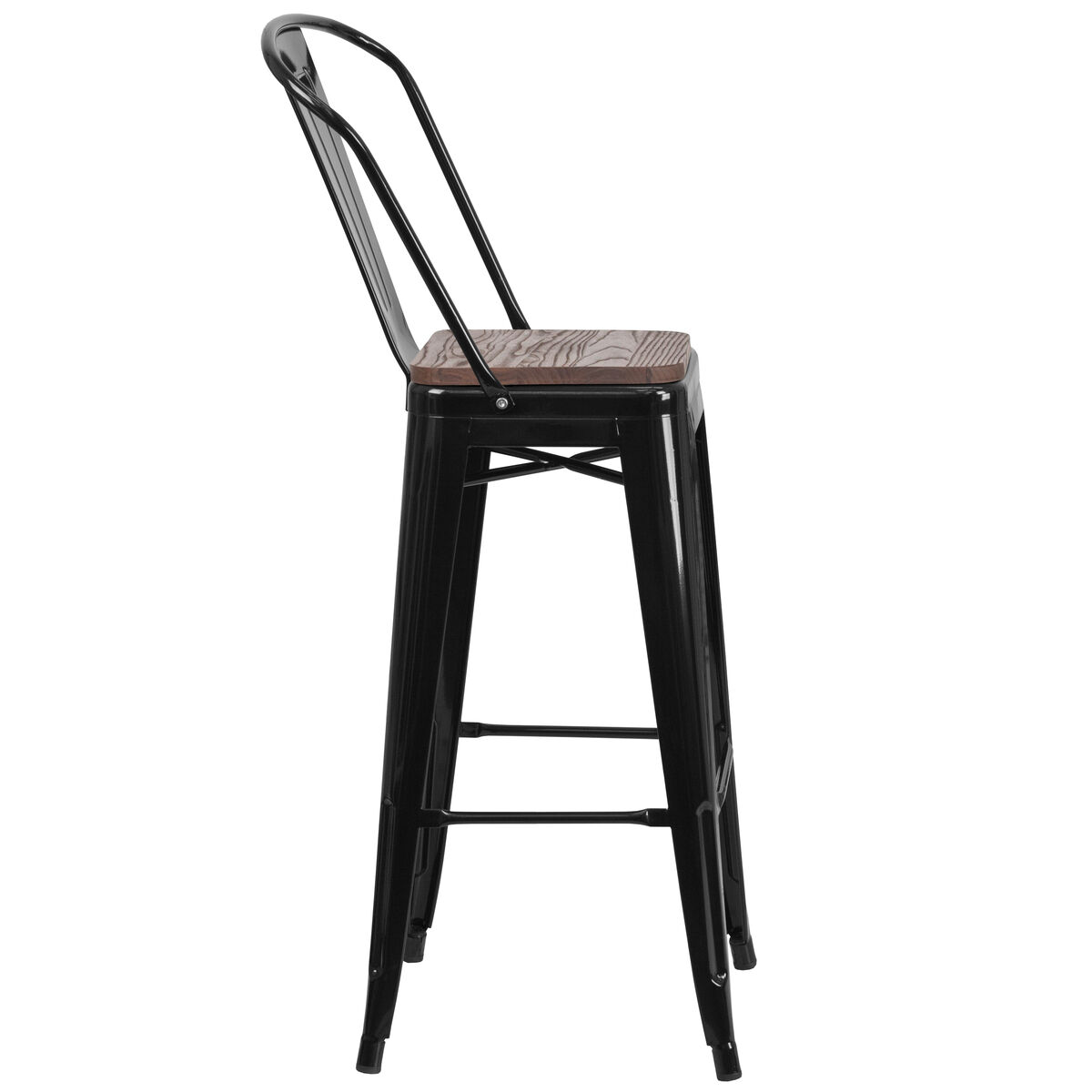 30 Black Metal Barstool Ch 31320 30gb Bk Wd Gg Stackchairs4lesscom