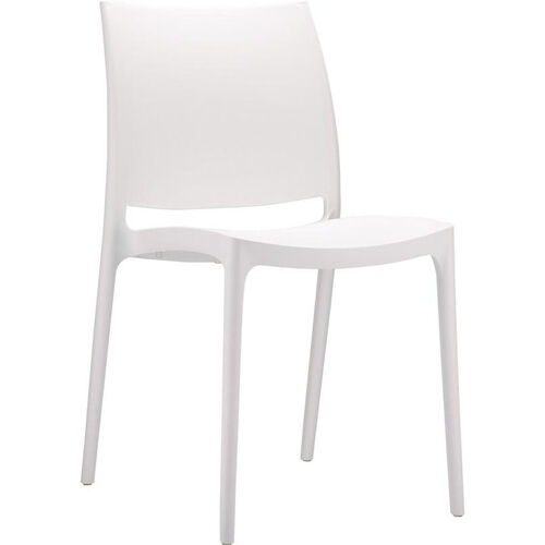 Our Martinique Lightweight Indoor/ Outdoor Stackable Side Chair - White is on sale now.