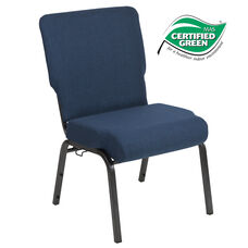 Advantage 20.5 in. Navy Molded Foam Church Chair