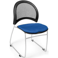 Moon Stack Chair with Fabric Seat Cushion - Royal Blue