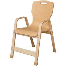 Stacking Bentwood Plywood Kids Chair with Arms - 18.25