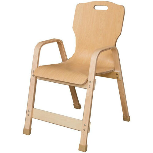 Our Stacking Bentwood Plywood Kids Chair with Arms - 18.25