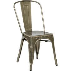 OSP Designs Bristow Armless Chair - Set of 4 - Gun Metal