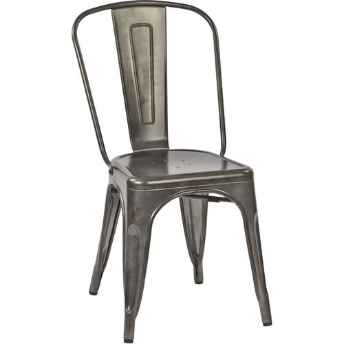 Our OSP Designs Bristow Armless Chair - Set of 4 - Matte Galvanized is on sale now.