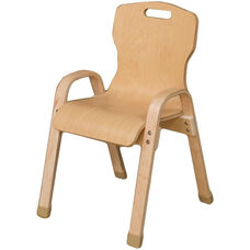 Stacking Bentwood Plywood Kids Chair with Arms - 14.75