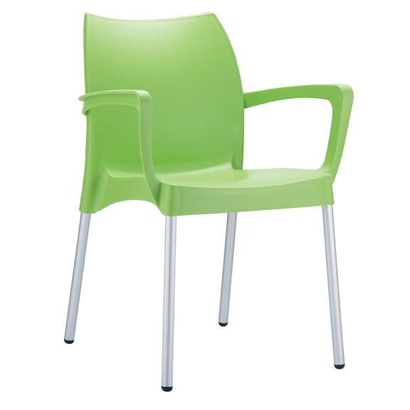 Domenica Lightweight Stackable Arm Chair with Aluminum Legs - Green  sc 1 st  StackChairs4Less & StackChairs4Less: Aluminum Stack Chairs