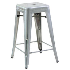 Steel Tolix Backless Barstool