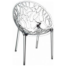 Crystal Modern Design Polycarbonate Dining Chair - Transparent Clear