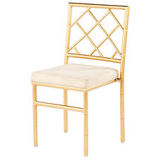 Diamond Back Metal Ballroom Chair - Gold