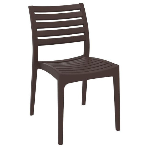 Our Ares Resin Outdoor Stackable Dining Chair - Brown is on sale now.