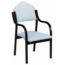 3410 Stacking Chair w/ Upholstered Back & Seat - Grade 2