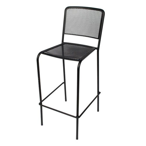 Our Chesapeake Black Stackable Outdoor Micro Mesh Barstool is on sale now.