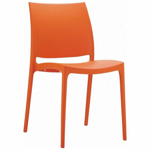 Our Maya Outdoor Polypropylene Stackable Dining Chair - Orange is on sale now.