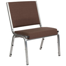 HERCULES Series 1500 lb. Rated Brown Antimicrobial Fabric Bariatric Antimicrobial Medical Reception Chair