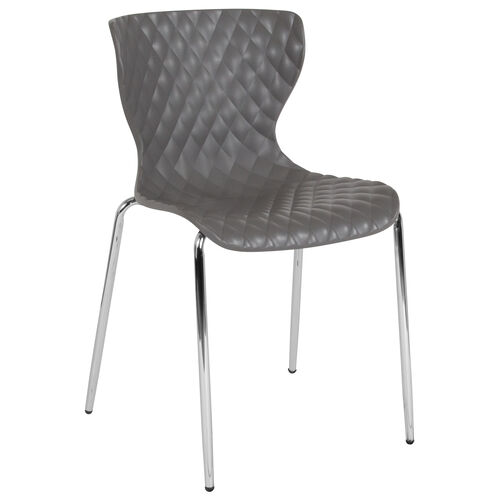 Our Lowell Contemporary Design Gray Plastic Stack Chair is on sale now.