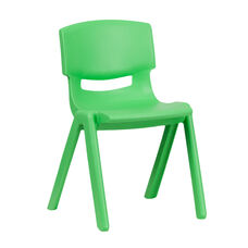 Green Plastic Stackable School Chair with 13.25