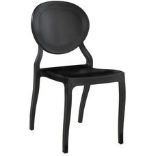 Emma Resin Polypropylene Stackable Event Chair - Black