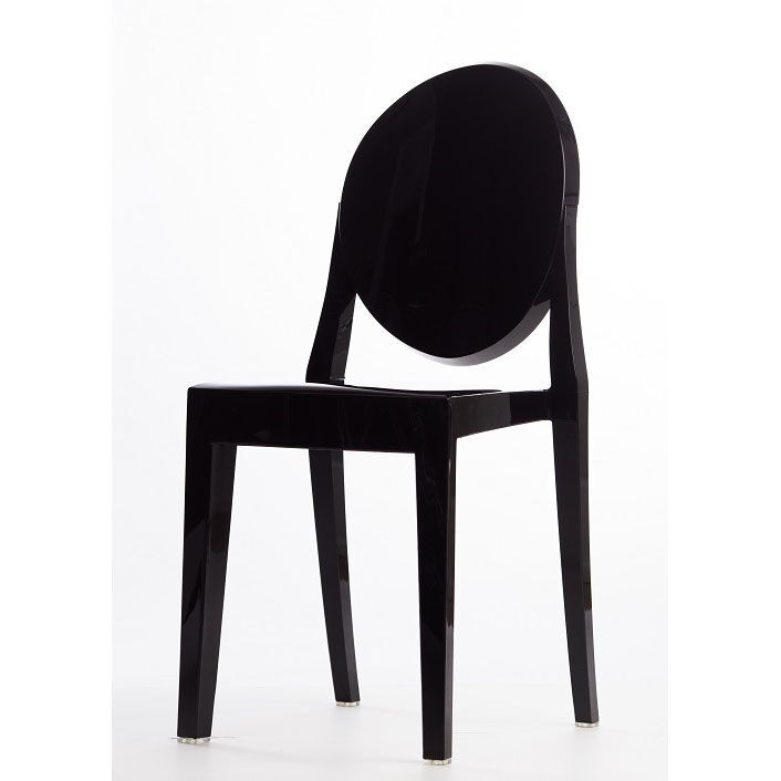 Attirant ... Our Polycarbonate Stackable Black Armless Kage Chair Is On Sale Now.