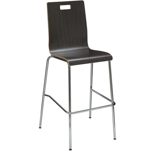 Our JIVE Series Stacking Bentwood Armless Cafe Barstool with HPL Surface and Silver Steel Frame is on sale now.