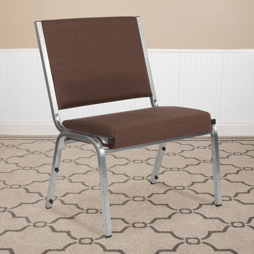 Our HERCULES Series 1500 lb. Rated Brown Antimicrobial Fabric Bariatric Antimicrobial Medical Reception Chair is on sale now.