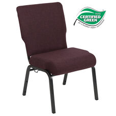Advantage 20.5 in. Grape/Amethyst Molded Foam Church Chair