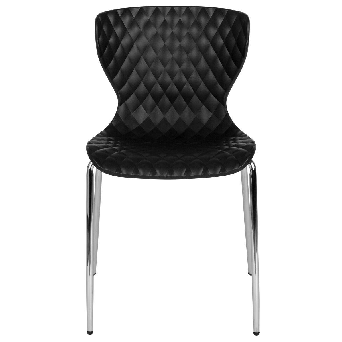 black plastic stack chair lf 7 07c blk gg. Black Bedroom Furniture Sets. Home Design Ideas