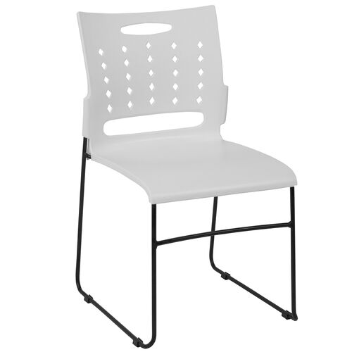 Our HERCULES Series 881 lb. Capacity White Sled Base Stack Chair with Air-Vent Back is on sale now.