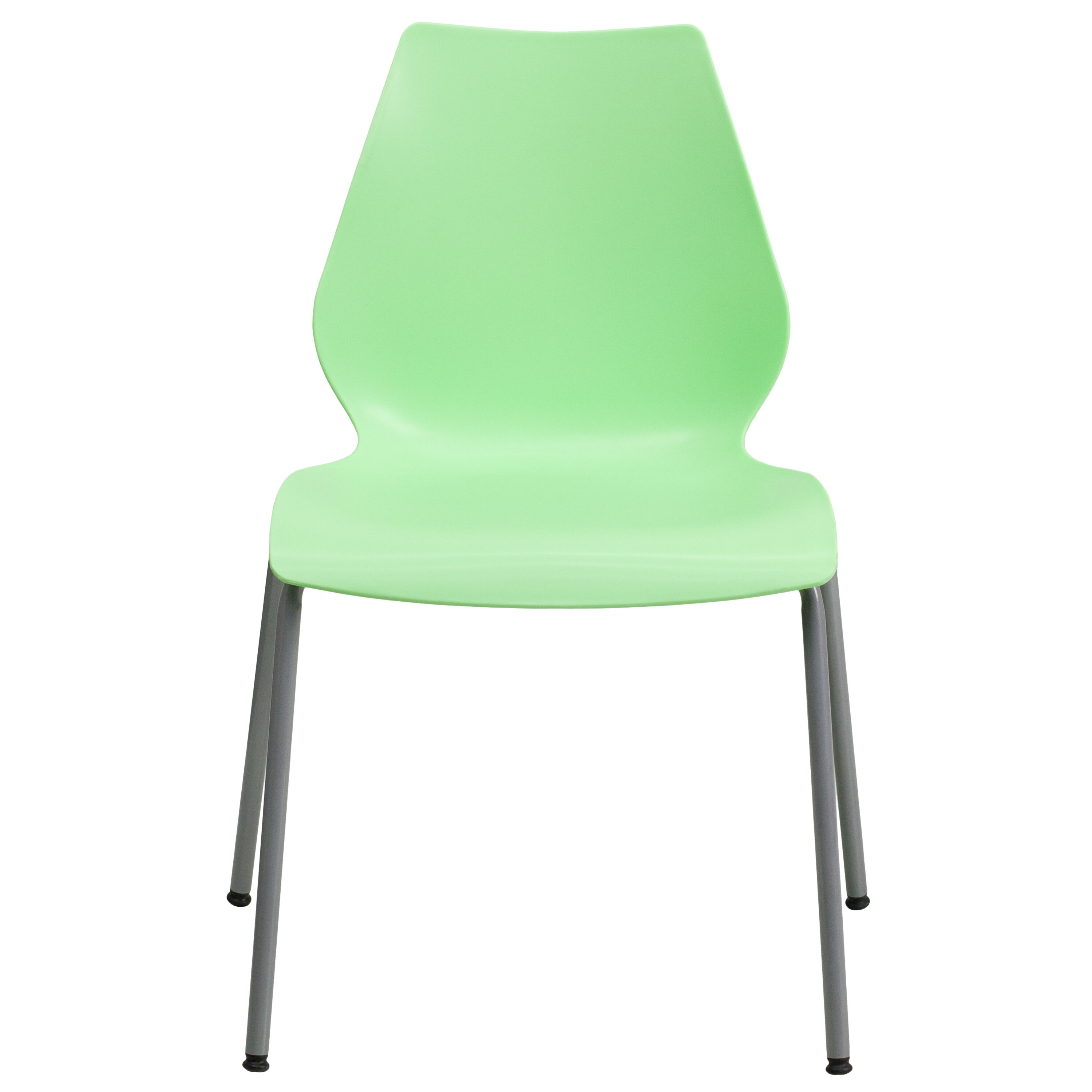 Capacity Green Stack Chair with Lumbar Support and Silver Frame  sc 1 st  StackChairs4Less & Green Plastic Stack Chair RUT-288-GREEN-GG | StackChairs4Less.com