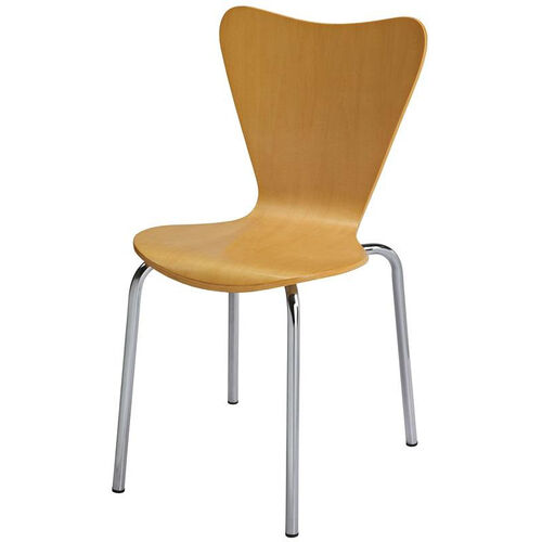 Our 3800 Series Bentwood Stacking Armless Cafe Chair with Chrome Frame - Natural is on sale now.