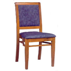 609 Stacking Chair w/ Upholstered Back & Seat - Grade 2