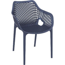 Air XL Modern Resin Outdoor Dining Arm Chair - Dark Gray